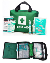 Hot sales 100 pieces green first aid kit for home and workshop