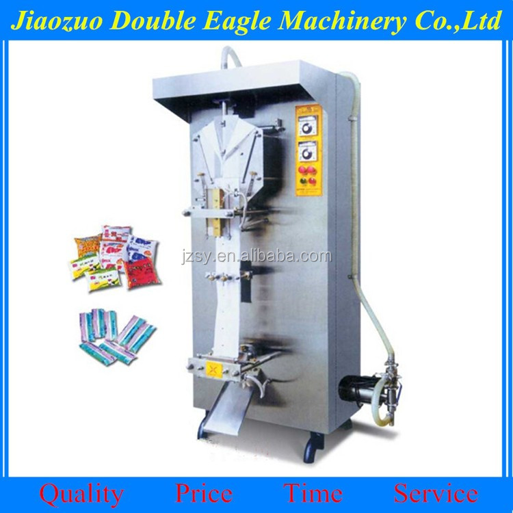 automatic counting liquid milk packaging machine/sachet water filling packaging machine