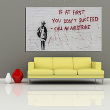 Modern Abstract Banksy Art Wall Painting For Hotel Bar Home Decoration Free Sample