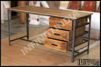 INDUSTRIAL VINTAGE DINING TABLE , INDUSTRIAL FURNITURE