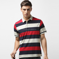 new style polo men's T-shirts striped shirt clothing wholesale