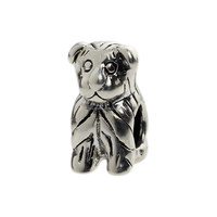 Fashion Wholesale Fluffy Puppy Dog 925 Sterling Silver Charm For European Bracelet