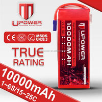 Constant 250A 10000mah 6cell 22.2V lipo 12v 10ah battery pack with best battery packing and shipment