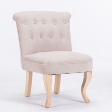 Antique Tufted Fabric Single Seat Armless Leisure Chair, Leisure Ways Indoor <strong>Furniture</strong>