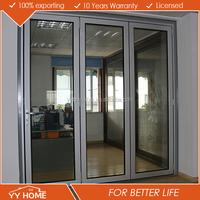 YY Home Thermal break frame used for Apartment Aluminum double glass horizontal bi-folding door