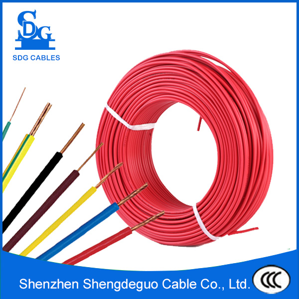 450/750v single core bv 1mm2 copper or cca pvc insulated electric cable