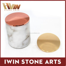 Factory Hot Sale Marble Candle Jar/ Candle Holder/Wedding Decoration