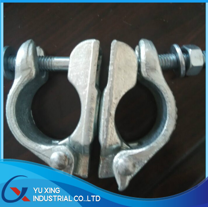 EN74 forged double coupler / electro plating silver coupler