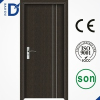 2015 newest popular pvc wood doors coated mdf doors interior wooden doors high quality cheap price