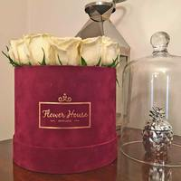 Custom Velvet Flower Packaging Box Gift