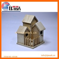 2015 hot sale decrative wooden bird house