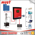 intelligent smart dc ac pure sine wave high frequency solar power inverter 24v 48v to 230vac