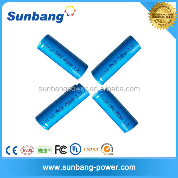 Lithium ion Battery light weight 3.7V 2200mah lithium battery for spotlight