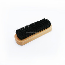 Wood handle black bristle horse hair shoe scraper brush