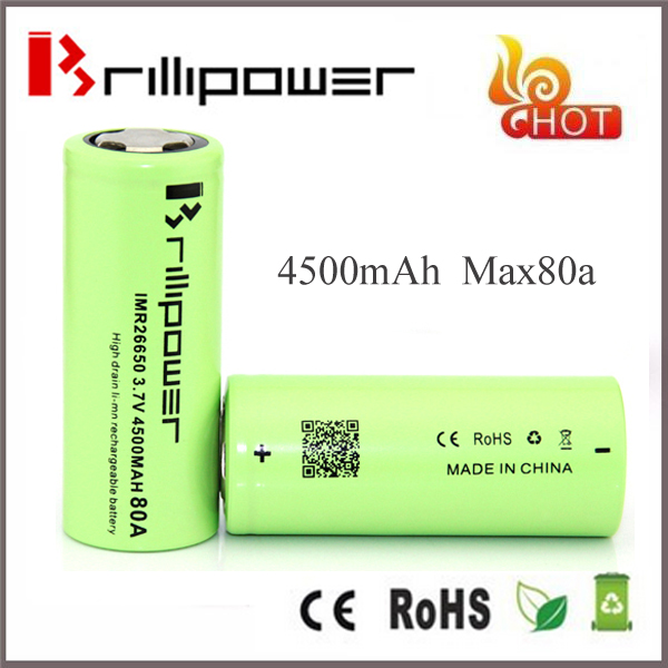 Best selling Brillipower 26650 4500MAH 80A rechargeable lithium battery for power tool