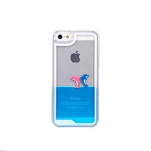 [SANLEAD]Dolphin Floater Universal Mobile Phone Case for iPhone 4 in Blue