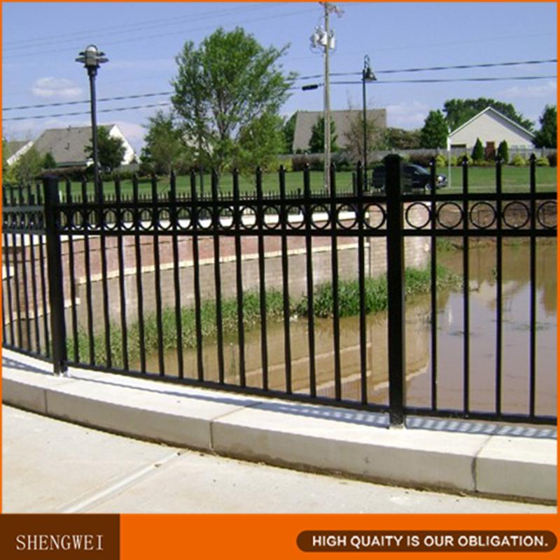 Powder coated decorative iron fence panels for garden