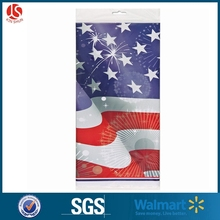 Custom PrintedOld Glory Patriotic Plastic Tablecloth for Memorial Day party, Plastic Tablecloth for Labor Day BBQ