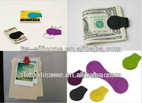 Strong magnet silicone Money Clip / magnet paper Clamp