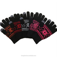 Smart Touch Gloves Knitted Jacquard Screec