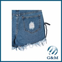 Azul claro jeans <span class=keywords><strong>pantalones</strong></span> sexy Ladies shorts