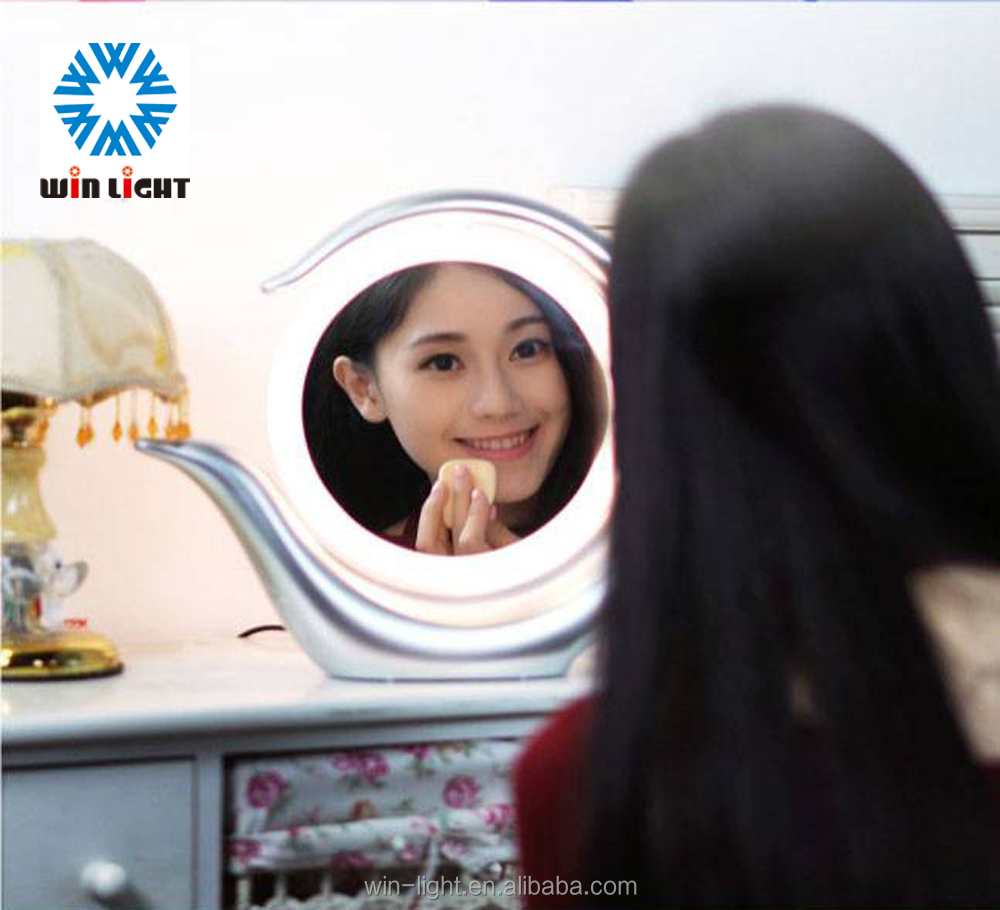 High quality colorful round walmart lighted makeup mirror from china factory