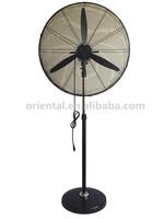 Powerful industrial stand fan, metallic fan, 3 aluminum blades