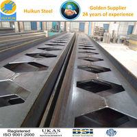BS / JIS / DIN welded h steel beam for Mega structure