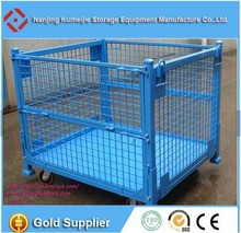Selective Industrial Wire Baskets Pallet Cage