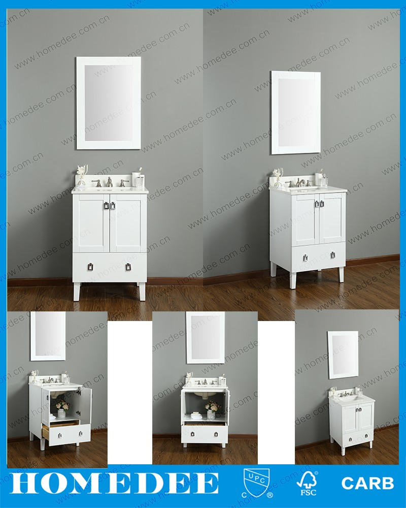 waterproof marble top bathroom storage cabinet french style