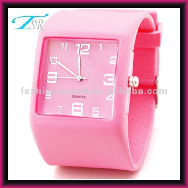 2012 hot new cheap fashion unisex sport square color watches silicon