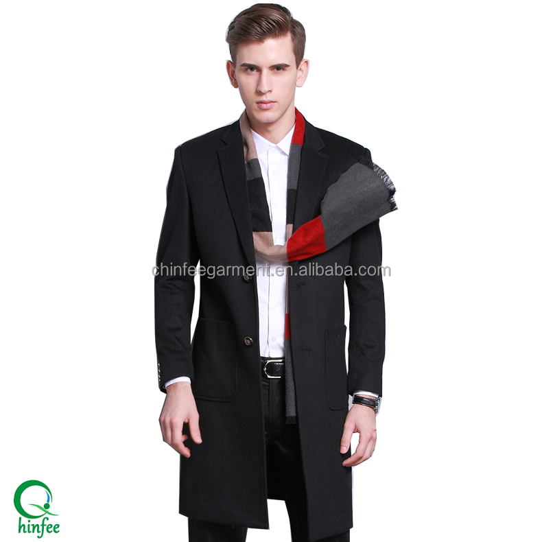 Designer Brand Name Coats Casual Men Long Winter Wool Coats