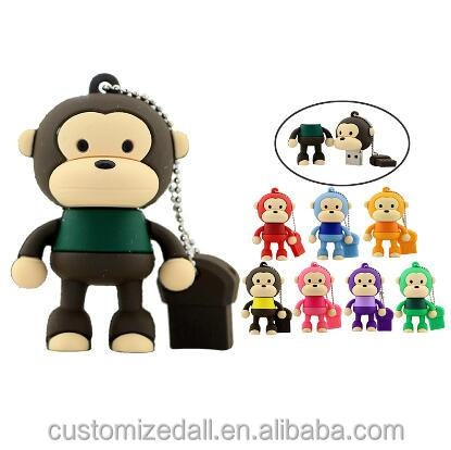 cartoon monkey USB flash drive 1GB 2GB 4GB 8GB 16GB 32GB mini cute Memory Stick pendrive creative animal U Disk