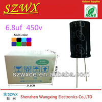 Offer high quality 6.8UF 450V Aluminum electrolytic capacitor