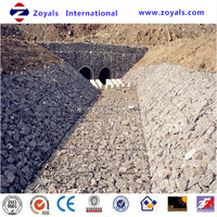 Protecting slope welded gabion box/stone cages/wire mesh