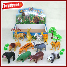 Plastic toys bounce balls animals