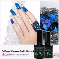 new galaxy color gel nail polish