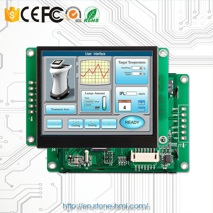 tft lcd display 3.5 inch sunlight readable for ATM/POS system