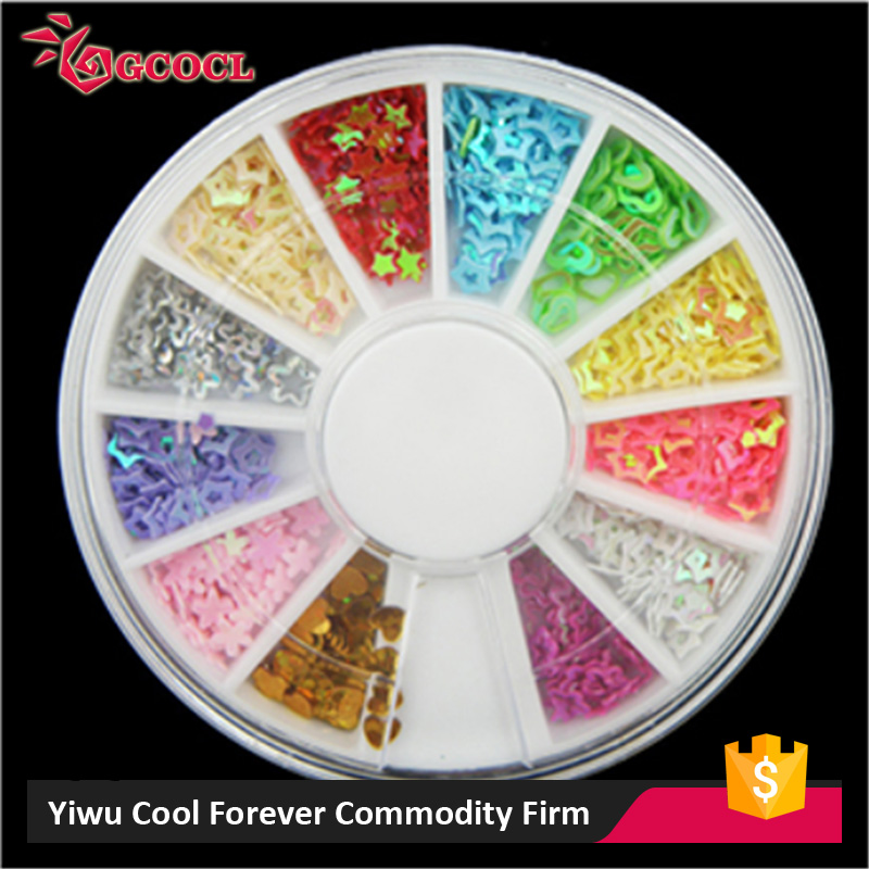 New Arrival OEM design nail art sticker wheels 2016