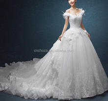 Z55610B New Arrival A line Floor Length French lace Wedding dress/wedding gowns