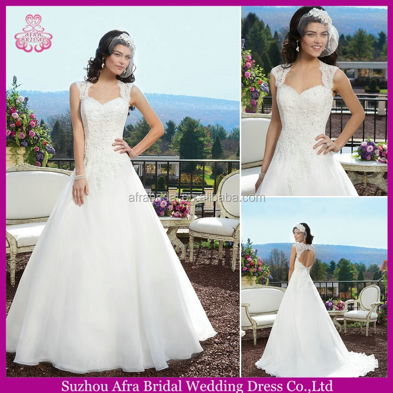 SD2161 sheer straps backless ball gown lace sleeves to add to wedding dress