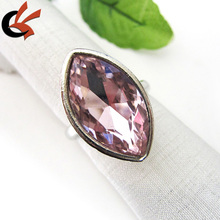 Lovely Pink Gem Horse Eye Crystal Rhinestone Party Napkin Holder
