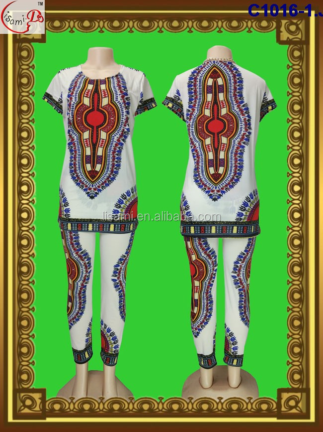 C1016 newest fashion popular gorgeous design factory price soft material short sleeve straight dashiki dress for promotion