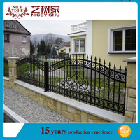 Strong steel safety galvanized fence panels design/steel wrought iron galvanized fence panels design/garden railings fencing