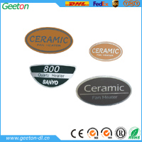 Custom Plastic Screen Printing Logo Label Sticker