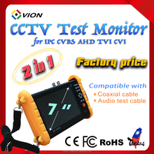 7 inch Big touch screen WIFI IPC PTZ CVBS CCTV Security Tester pro