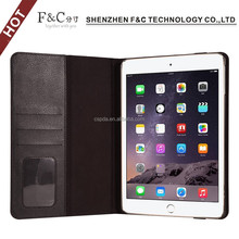 side-opening book style shockproof smart pu leather case for ipad mini cover case apple with card slot and paper holder