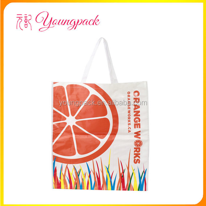 High quality reusable recycle fashion pp woven shopping bag for gift