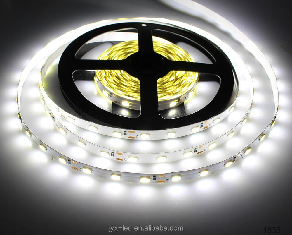 100% factory passed CE,ROHS,FCC 60leds 9-10lm/35-40lm/led 12W/30W/m led strip 5630, 12 V/ 24 volt led strip
