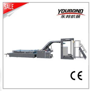 high quality fast speed semi automatic flute laminating machine